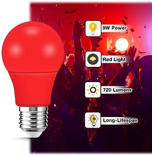 Red LED lamp for better sleep