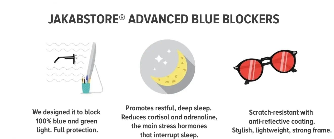 Blue blocking glasses for sleep