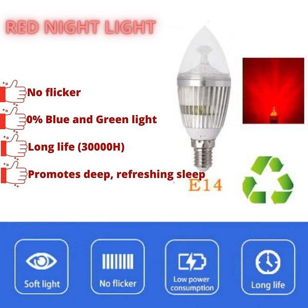 RED Night light LED bulb