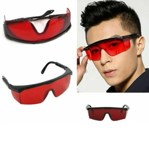 blue blocking glasses with red lens