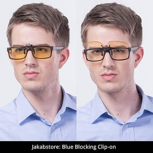 Blue Light Blocking Clip-on for Prescription Glasses